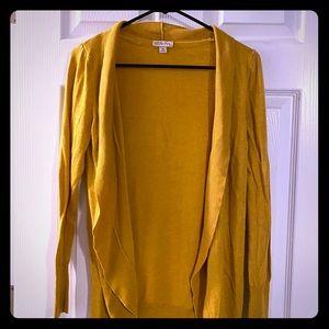 Merona Target mustard yellow cardigan